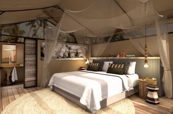 Khwai Bedroom in Tent